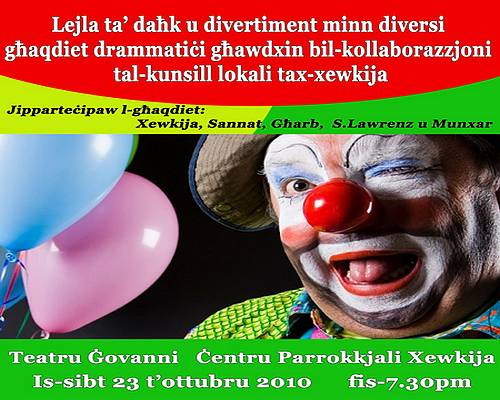 A night of entertainment this Saturday at Teatru Govanni