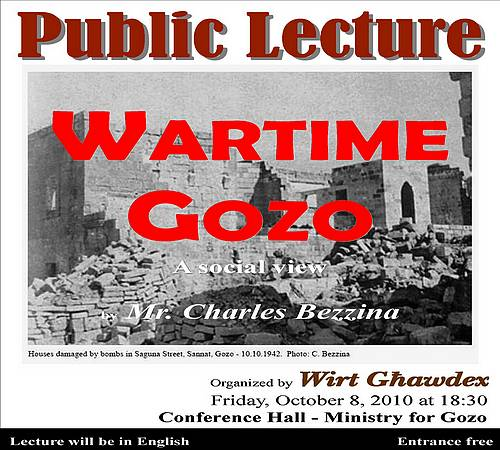 Wirt Ghawdex announces it's schedule of upcoming lectures