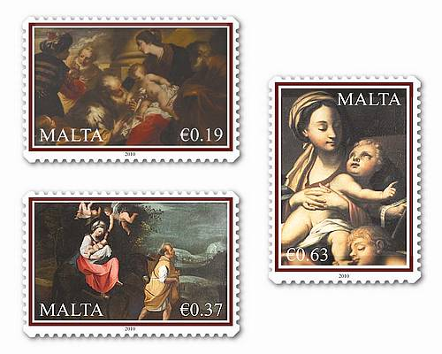 Maltapost issues set of stamps for Christmas 2010