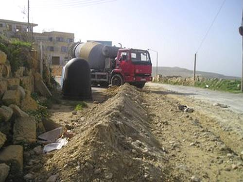 Works now well underway on the road to Dwejra