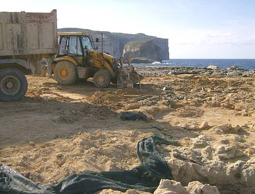 Cleaning in Dwejra, Gozo - Fire & Blood Productions