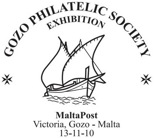 Special Hand Postmark for Gozo Philatelic Society Exhibition