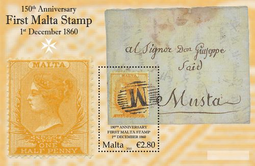 MaltaPost celebrates 150th anniversary of 1st Malta stamp