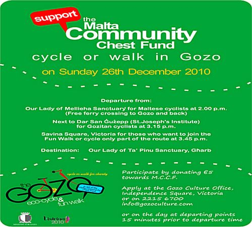Gozo activities in aid of the Malta Community Chest Fund
