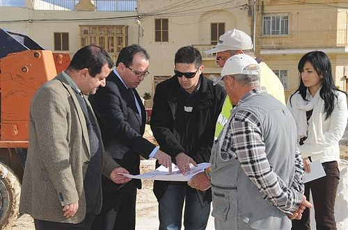 Parliamentary Secretary Chris Said visits projects in Kercem