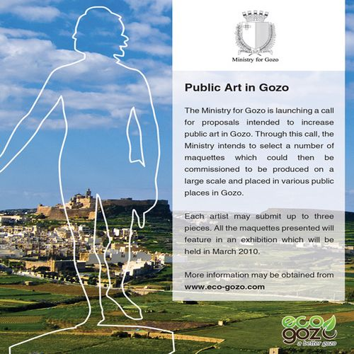 "Ministry for Gozo launches the ""Public Art in Gozo"" scheme"