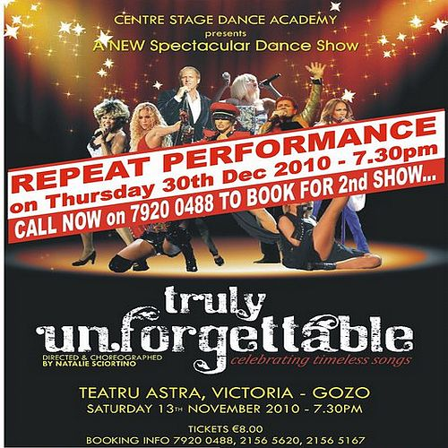 Repeat performance of 'Truly Unforgettable' Dance Show'