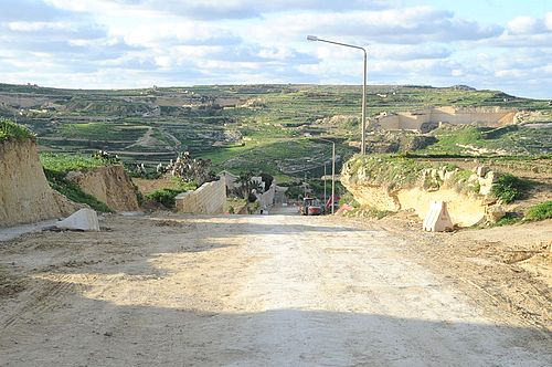 Road works continuing around several areas of Gozo