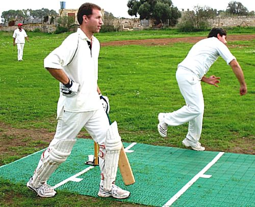 First cricket game of 2011- Malta Selection & Combined team