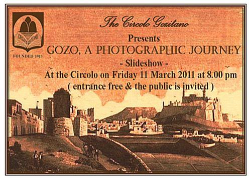Gozo, a Photographic Journey - A Circolo Gozitana Talk