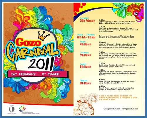 Gozo Regional Carnival 2011 activities underway this month