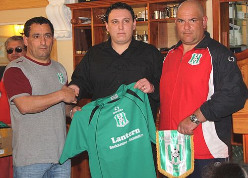 Football kits presented to Xghajra Tornadoes youth team