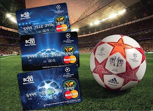 BOV Limited Edition UEFA League MasterCard prepaid cards