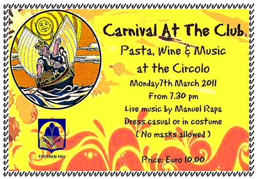 Carnival festivities at the Circolo Gozitano Club in Victoria
