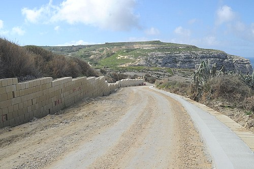 Minister for Gozo visits ongoing works on road to Dwejra