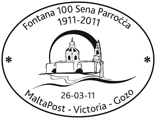 MaltaPost issues special hand postmark for Fontana Church
