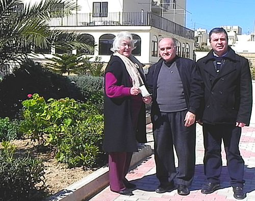 Malta Charities presents donation to the Arka Foundation