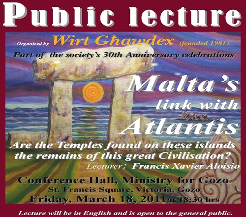 Malta's link with Atlantis - Wirt Ghawdex's Latest Lecture