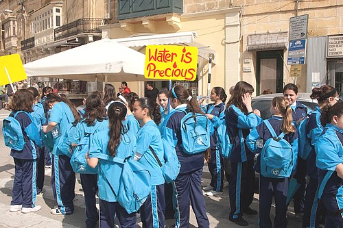 World Water Day 2011 celebrated by students in Gozo