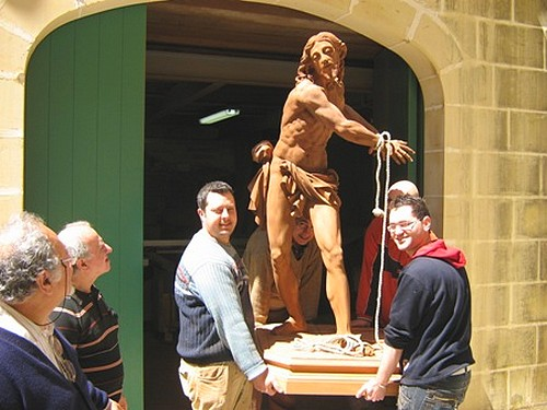 New Statue of Flagellation of Jesus at St George's Basilica