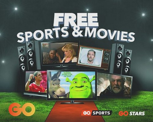 GO launches 3 months of free movies and sports channels