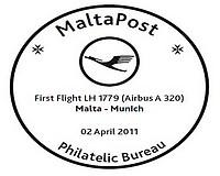 Special Hand Postmark - Inaugural Flight of Lufthansa