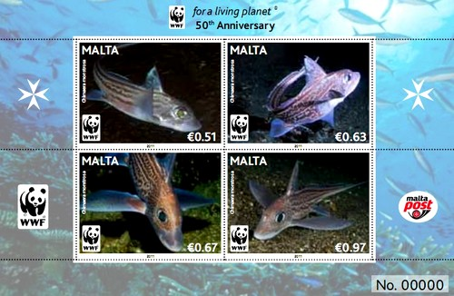 MaltaPost commemorative set for WWF's 50th Anniversary