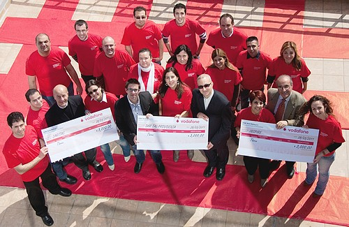 Vodafone employees contribute to 3 charity organisations