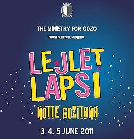 Lejlet Lapsi Notte Gozitana programme and tour details
