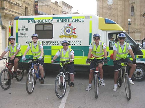 E.R.R.C. Bicycle Response Unit debuted at Gozo Marathon