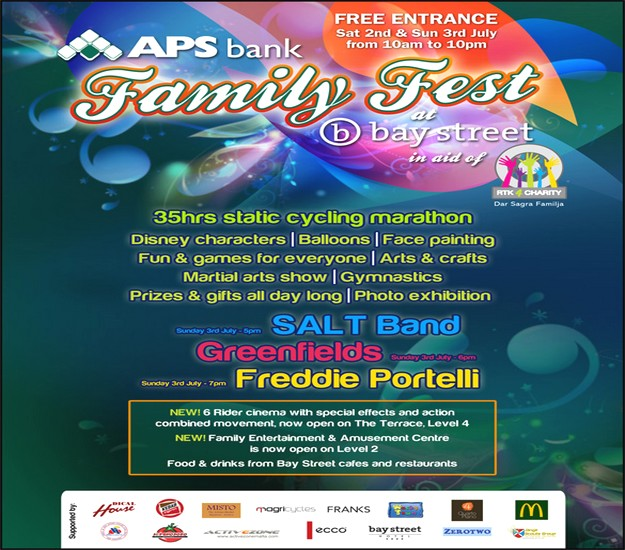 APS Bank Family Fest this weekend in aid of RTK4Charity