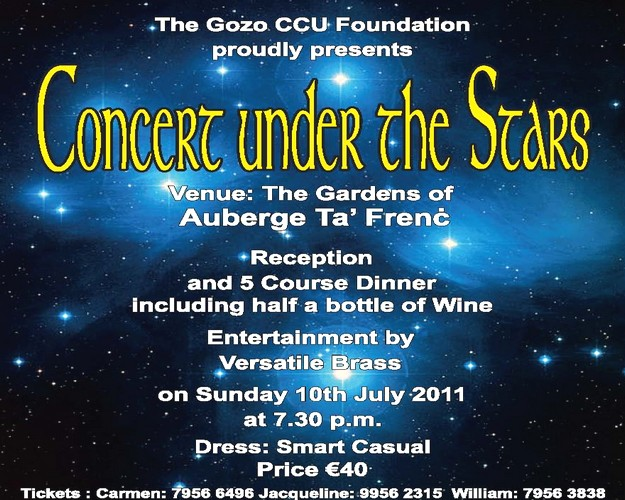 A 'Concert Under The Stars' with the Gozo CCU Foundation