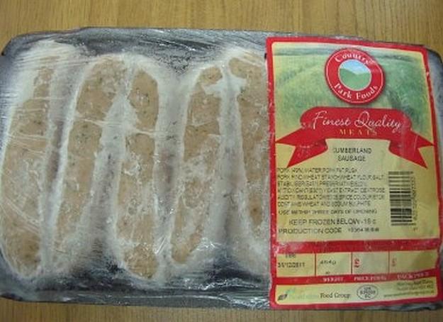 Health Directorate warning on UK Cumberland Sausage