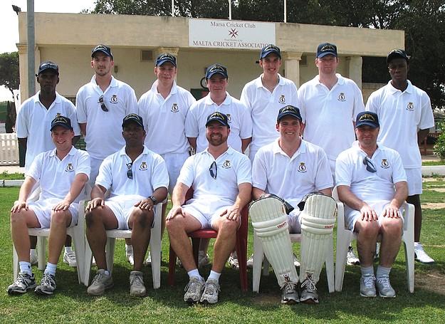 Marsa cricket team play match against HMS Liverpool