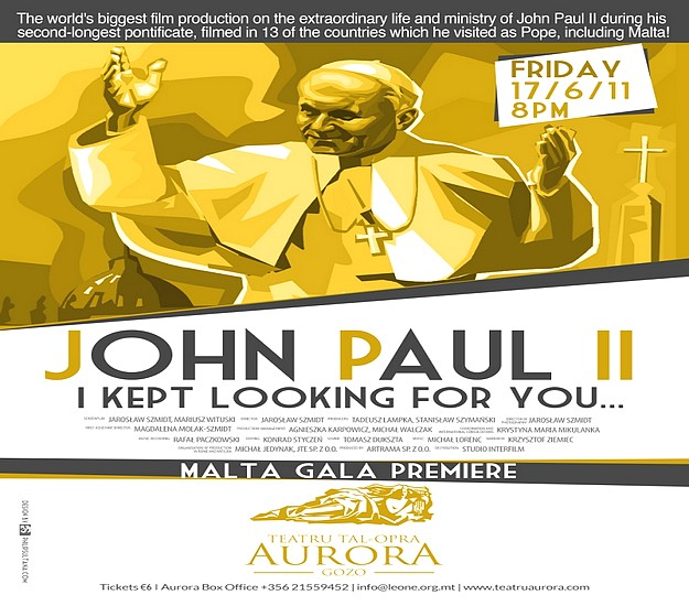 John Paul II's Film Gala Premiere in Gozo is postponed
