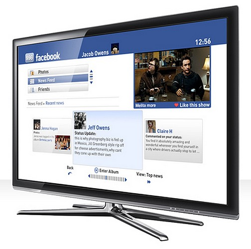 A free application to enjoy Facebook on your TV set