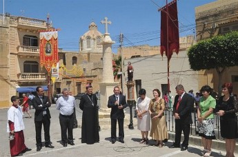 'Salib tad-Dejma' cross in Nadur's main square restored