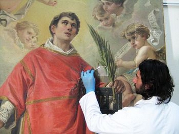 Restoration works begin on titular painting at San Lawrenz