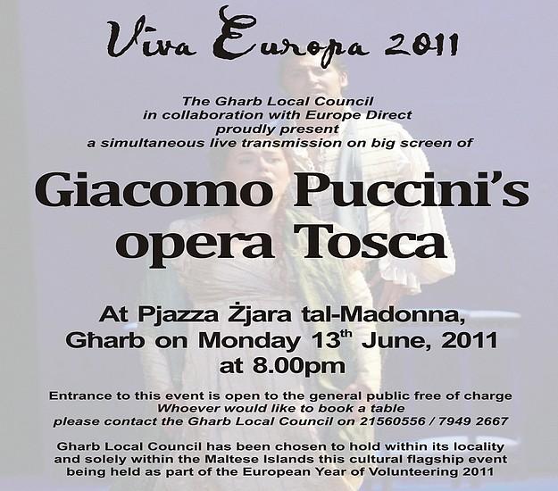 Viva Europa 2011: Live Opera for European Cities - Gharb