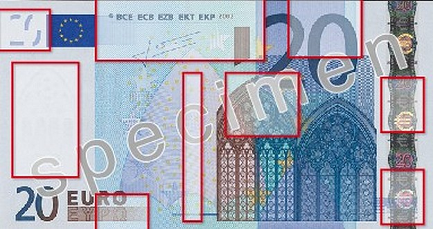 €20 and €50 denominations are most counterfeited notes