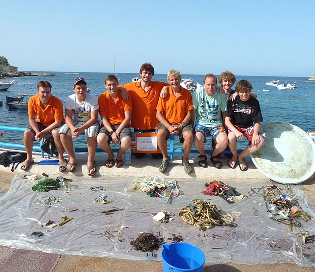 Dive Against Debris in Marsalforn collects 25kg of waste