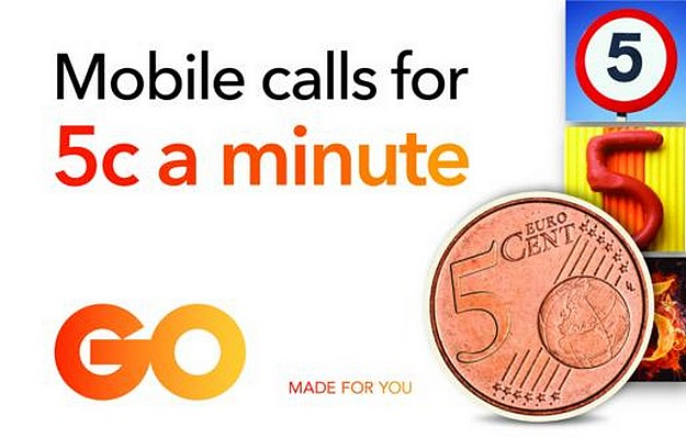 A summer offer from GO with mobile calls at 5c a minute