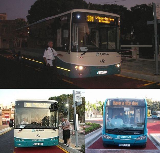 New Arriva bus service starts it's first day in Gozo