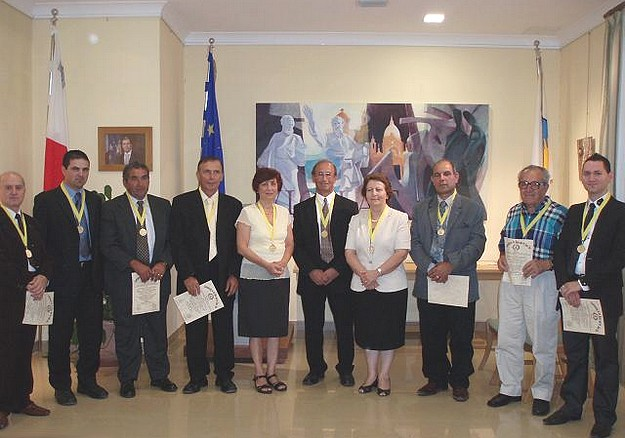 Nadur Chevaliers elevated to Grand Priory at investiture