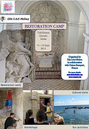 Din L-Art Hewla Restoration Work Camp starts next month