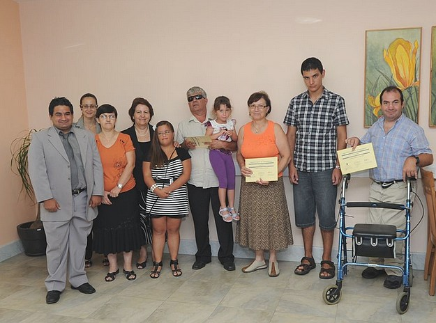 ICT certificates awarded at the Santa Marta Day Centre
