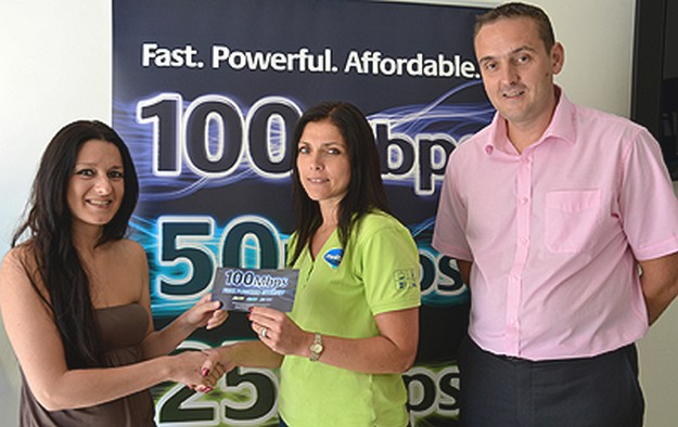 Pauline Portelli of Nadur is 1000th Fibre Power customer