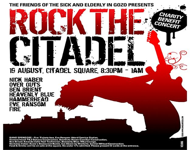 'Rock the Citadel' in aid of the Friends of the Sick and Elderly