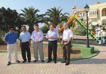 Parliamentary Secretary Chris Said visits Xaghra playground