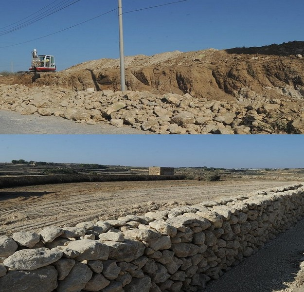 Ongoing works taking place around Santa Lucija village